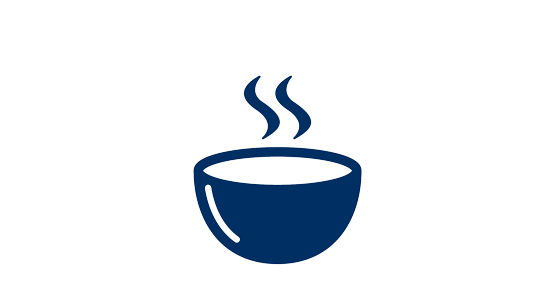 A blue cup icon