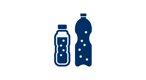 Icon with two soft drinks bottles