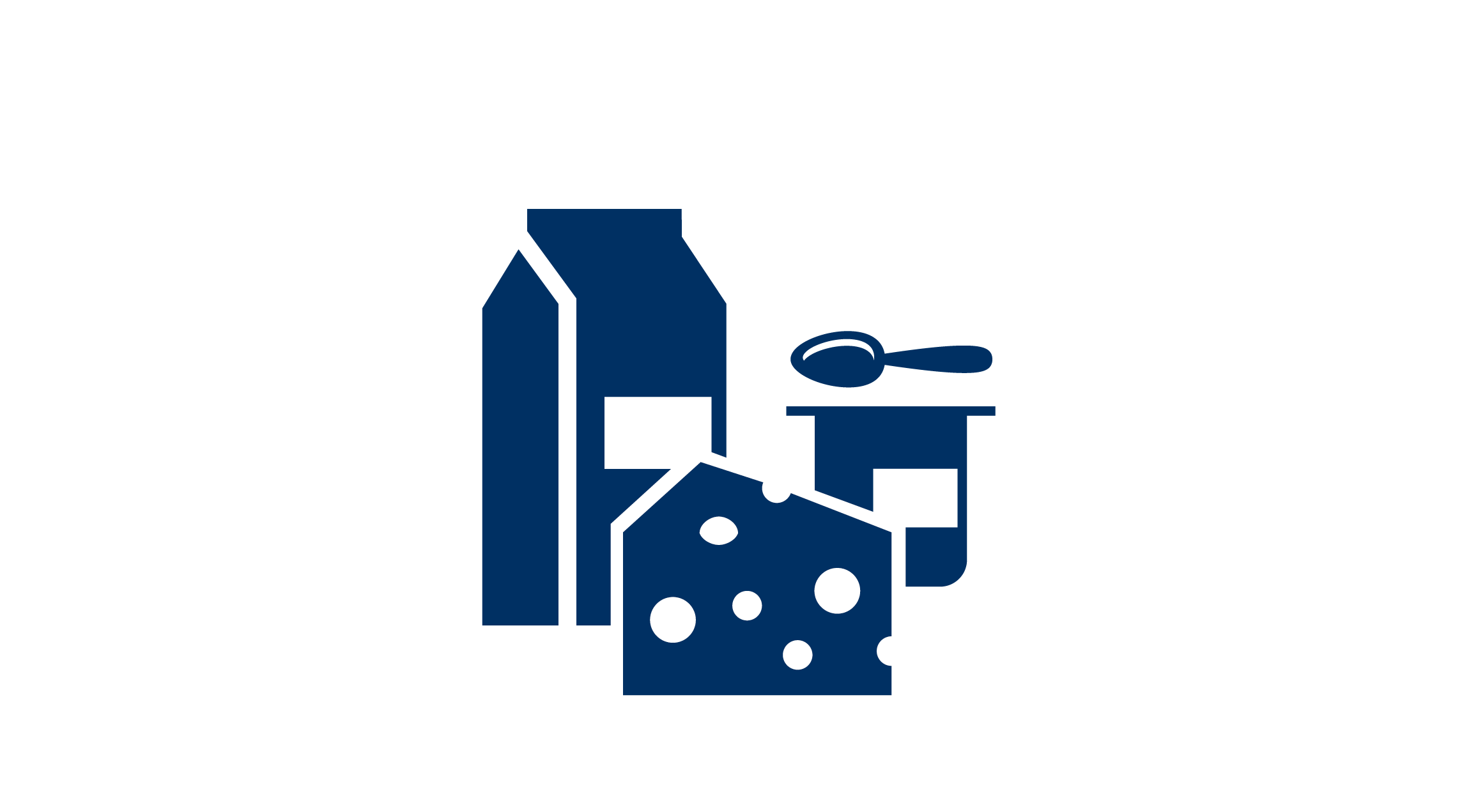 Icon with dairy procucts
