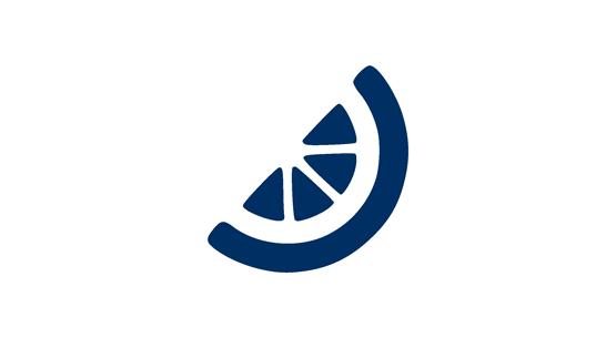 A blue orange icon