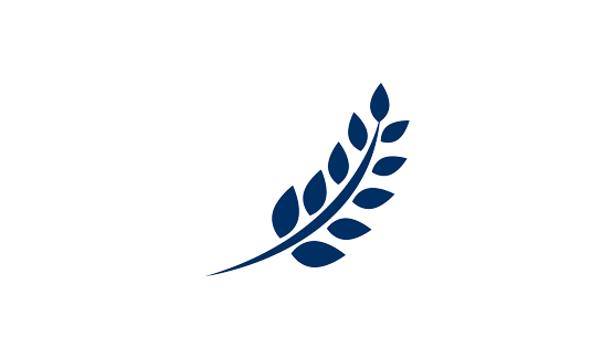 A blue plant icon