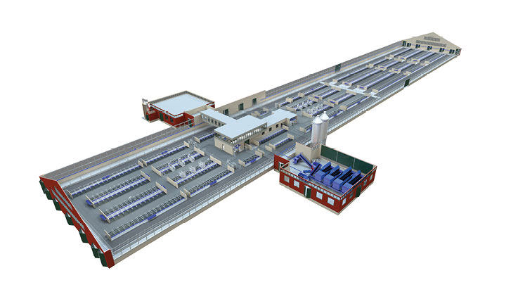 Illustration of Hamra Farm DeLaval's own innovation, testing, and exhibition centre