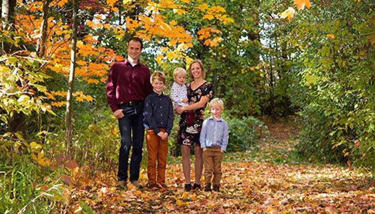 Customer family in Canada