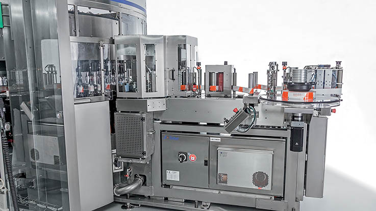 Sidel roll-fed labelling machine