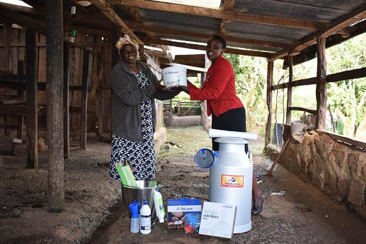 Women at Dairy Hub in Kenya