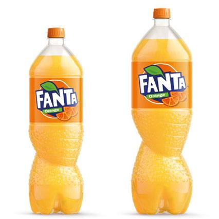 Fanta PET bottles.