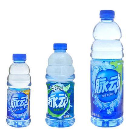 Mizone PET bottles.