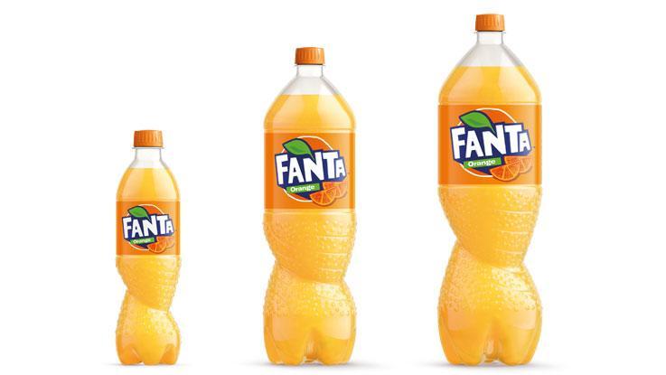 Fanta bottles in PET.