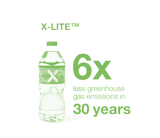 X-lite - 6x less emission in 30 years