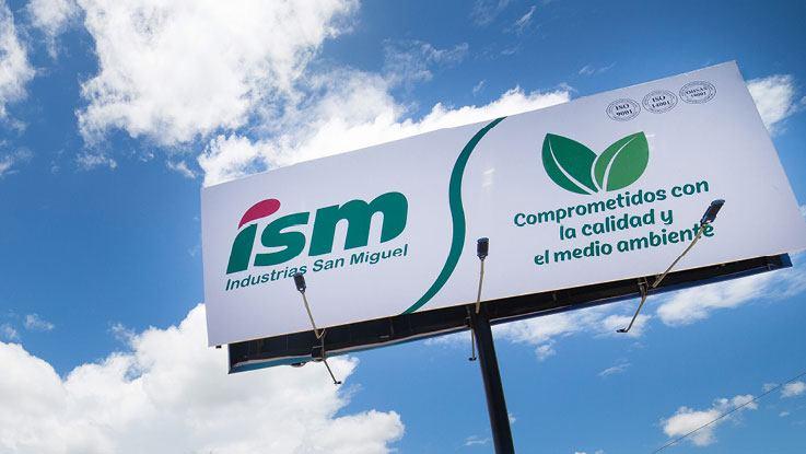 Industrias San Miguel sign