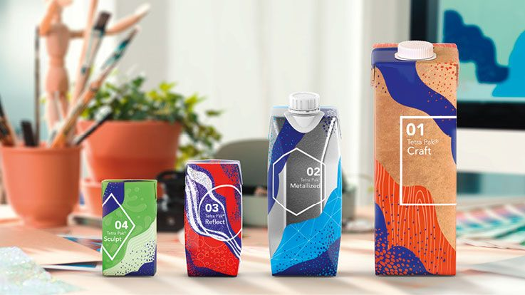 Tetra Pak® Artistry, packaging material effect